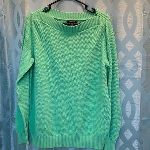 Land End Women's 14W green long sleeve sweater